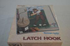 Nostalgic Golfer Latch Hook Rug Wonder Art #4112 16 x 32 With Hook New Sealed
