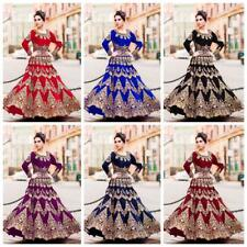 Bridal Blue Lehenga Choli Indian Lengha Chunri Ghagra Ethnic Wedding Party Wear