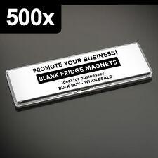 500x Premium Quality Clear Acrylic Blank Fridge Magnets 141 x 45 mm Size Photo