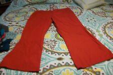 Misses Scrub Pants Size X Large Red Elastic & Drawstring Waist
