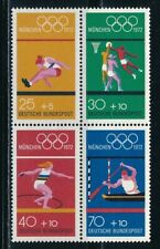 Germany - Munich Olympic Games MNH Block from Booklet (1972)