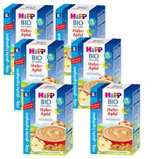 6x 450 G HIPP bio lait bonne nuit avoine Pomme sans sucres 9 Portions