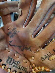 Vintage Wilson Baseball Glove Mitt Autograph Model Tommy John