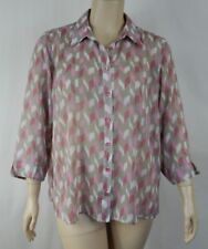 Extra Pepper Pink 3/4 Sleeve Georgette Shirt Top Tunic Plus Size 22 S16
