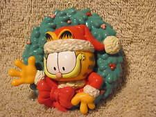 Christmas Ornament Garfield in a Wreath 1996