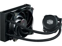 Cooler Master MasterLiquid Lite 120 AIO CPU Liquid Cooler, White Led Pump
