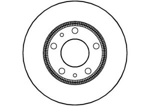 2x Brake Discs Pair Solid 276mm NBD1079 National Auto Parts Set 42471034 Quality