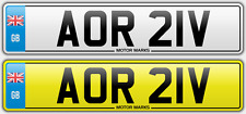 PRIVATE NUMBER PLATE - AOR 21V - AOR AO AR 1978 CHEAP AOR BARGAIN NUMBER AOR AO