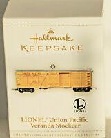 "Hallmark Keepsake Ornament ""LIONEL UNION PACIFIC VERANDA STOCKCAR"" 2006 - NEW"