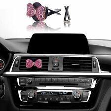 Bling Bling Car Accessories Interior Decoration for Girls Women - Pink Bow