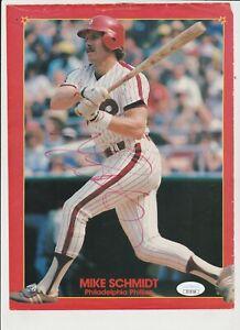 MLB Mike Schmidt Signed Mini Poster, JSA Certified
