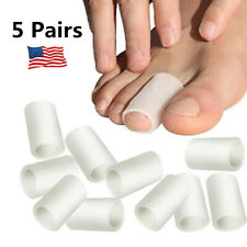 Toe Silicone Gel Protector Sleeve Tubes Ingrown Toenail Corn Cushion Cap 5 Pairs