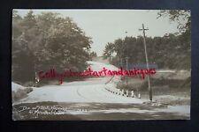Scenic Highway MUSKRAT LAKE N. Muskegon, MI near Duck Lake RPPC vintage postcard