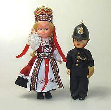 2 x 60er Jahre Souvenir Puppe Schlafaugen Hartkunststoff Celluloid