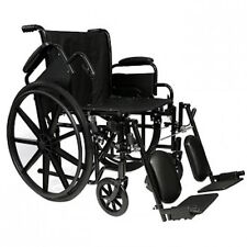 "Probasics 16"" Lightweight Folding Wheelchair w/ Elevating Legrests NEW"