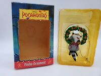 Vintage Disney Grolier Pocahontas MEEKO Raccoon Ornament Grolier First Issue