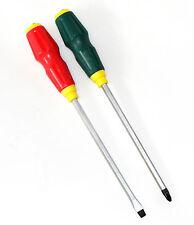ScrewDriver Set 2PC Extra Long Flat Tip ScrewDriver and Phillips No.2 HD,Cr-V
