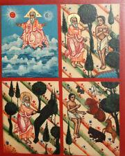 Hand Painted Tempera/Wood Orthodox Hexameron Icon