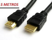 CABLE HDMI v1.4,  5m , TDT, DVD, BLU-RAY, XBOX, PS3, HDTV, TV 3D, FULL HD