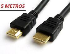 CABLE HDMI v1.4,  5m , TDT, DVD, BLU-RAY, XBOX, PS3, HDTV, TV 3D, FULL HD