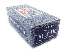 TALLY HO #9 Playing Cards 12 Decks Fan Back Original Design 6 Red & 6 Blue Deck