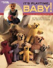 Leisure Arts IT'S PLAYTIME, BABY knitting pattern book knit amigurumi patterns