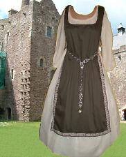 Medieval Sca Garb Renaissance Gown Costume ChocolateTabard Cream Chemise 2pc Lxl
