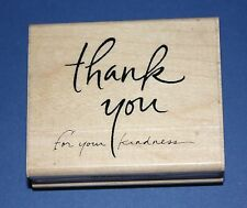 NEW Inkadinkado 'For Your Kindness' Wooden Backed Rubber Stamp 97820DD