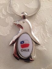 Chile Flag Keychain # 8 Pinguino.