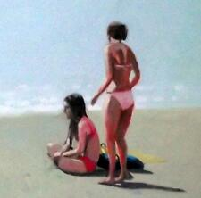 "Sand Girls  : Original Beach Oil Painting by Zlatan Pilipovic Large 20"" X 16"""
