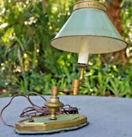 Vintage Tole Western Style Heavy Metal Brass Old Steam Lamp AS IS Parts Re use