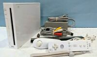 Nintendo Wii White Console RVL-001 with Assesories - Tested & Working