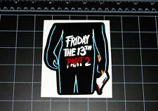 Friday the 13th Part 2 movie decal sticker Jason Vorhees Crystal Lake 80s horror