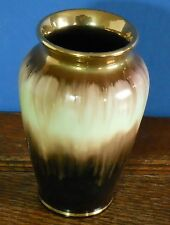 A mid  century German Art pottery vase brown / green / gold 535 – 12 Bay?