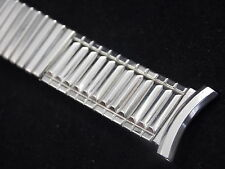 "Mens Vintage Watch Band Center Expansion White Gold Filled 19mm 3/4"" Speidel NOS"