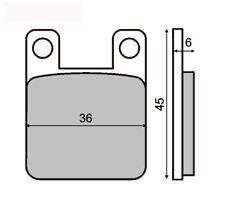 plaquette de frein POSTERIORISINTER DERBISENDA DRD RACING R 50 05> RMS