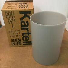 Nib, original Kartell Waste Basket / Trash Can in Translucent Light Grey (Oop)