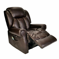 Hainworth Electric Recliner Chair With Heat and Massage Brown