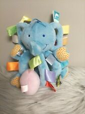 New listing Taggies Blue Elephant plush Rattle Pink Mouse Vibrating Toy