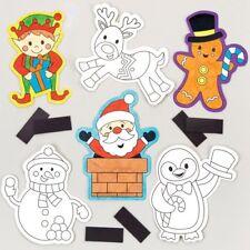 SVENDITA. 12 Colore di Natale-in magneti Kids Xmas artigianato attività Stocking Filler