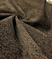 SUPER LUXURIOUS BROWN SOFT CHENILLE CURTAIN UPHOLSTERY FABRIC 4 METRES