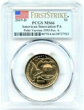 2019-D Innovation Pennsylvania Dollar, PCGS MS-66 Pos A, First Strike, Flashy!