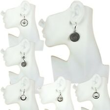 Wholesale Fashion Earring Lots 12 pairs German Silver Plated Dangle Earrings