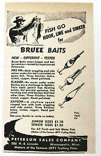 1947 Print Ad Bruee Baits Fishing Lures Pike Fin,Flasher,Kayson Minneapolis,MN