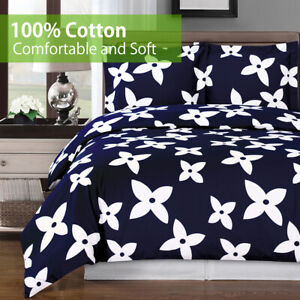 300TC 100% Cotton Soft & Comfortable 3PC Desiree Reversible Duvet Cover Set