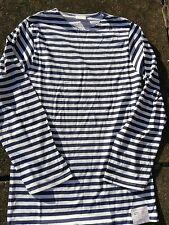 Top Marinero Ruso Telnyashka Azul despojado Camiseta Mangas Largas 46