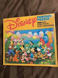 VTG New Disney Fantasy Puzzle 300 Large Pieces Mickey Minnie Mouse rare 80s 90s