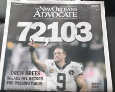 10/9/2018 THE NEW ORLEANS ADVOCATE- DREW BREES ALL TIME NFL PASSING RECORD