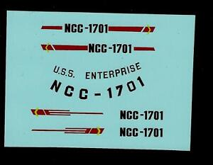 DINKY 358 STAR TREK USS ENTERPRISE TRANSFERS / DECALS