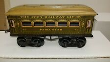 IVES EARLY VINTAGE PREWAR O-Ga. 62 PARLOR CAR; circa 1921 (Superb Example)